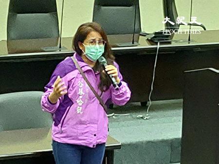 台南市议员谷暮・哈就致词。