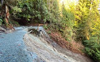 山体滑坡 西温卡布兰诺步道关闭