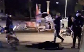 湖北一外卖员与保安冲突 遭警棍打头惨死
