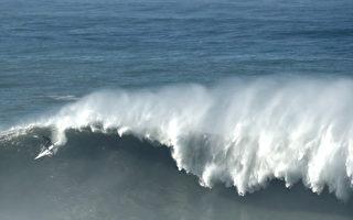 上週日灣區海岸出現大浪 氣象局發警報