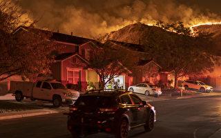 河滨县爆博尼塔火 延烧600英亩 居民撤离