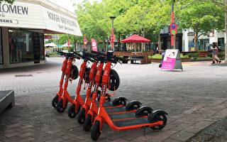 共享踏板車堪京受歡迎丟棄和破壞很少見