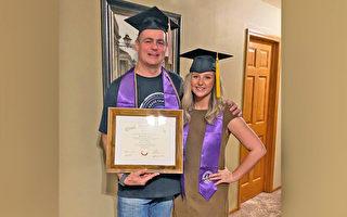 瞞全家苦讀學位 47歲父親趁小女畢業揭喜訊