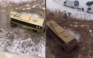 黑龍江大慶大客車墜橋 至少2死7傷