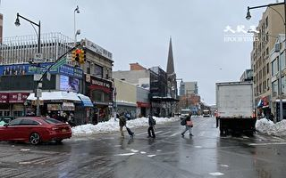 法拉盛中心區主幹道掃雪狀況良好