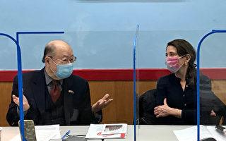 共和党市长候选人访华埠宣传政见