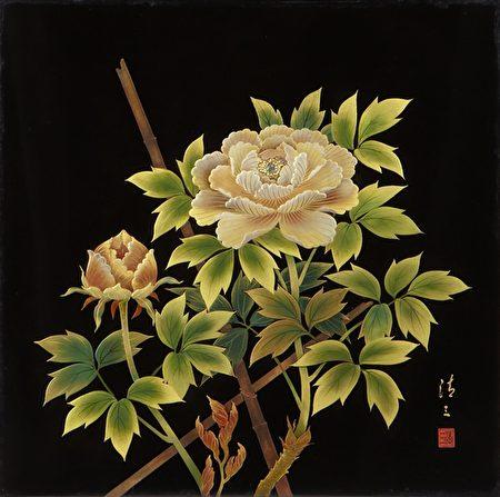 〈牡丹图〉这件作品也是王清霜在杉林溪所见,将艳而不俗的牡丹描绘的细致优雅。