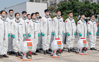 防疫幕后战士!蔡英文慰勉消毒大队、化学兵
