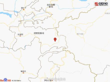 塔吉克斯坦、新疆邊境附近發生6.1級地震