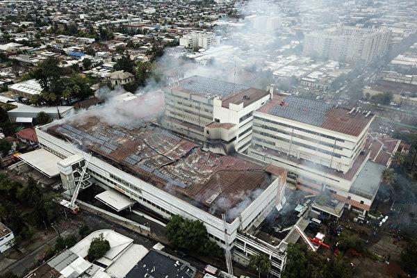 組圖:智利一間醫院發生火災 病患緊急撤離