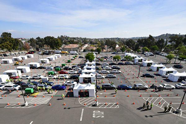 加州及联邦在奥克兰洛杉矶开启大型接种点