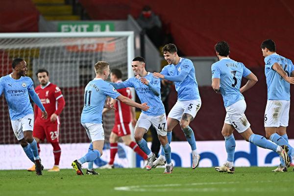 英超第23輪:曼城大勝利物浦 終結爭冠懸念