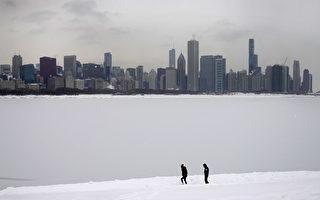 【組圖】芝加哥遇酷寒 美南數年來天氣最冷