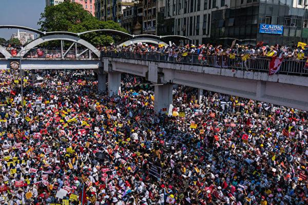 缅军镇压民众 台外交部:民主国家无法接受