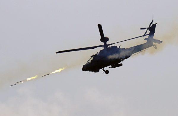 台湾的阿帕奇攻击直升机。(Sam Yeh/AFP via Getty Images)
