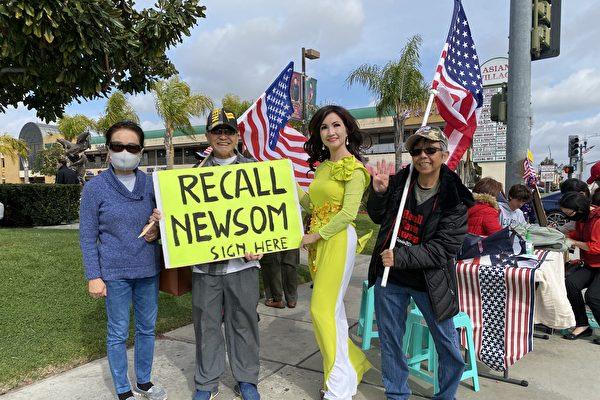罢免纽森有望 加州居民喜闻川普无罪