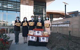 橙侨中心赠防疫包 约巴琳达市长黄瑞雅表感谢
