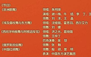 春晚含五大洲歌舞 政协前官员揭中共企图