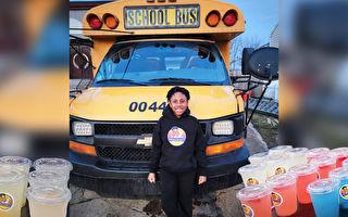 美10岁童创业卖饮料 拟将摊位升级为餐车