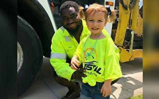 疫情下 环卫司机举办卡车游行 为4岁童庆生