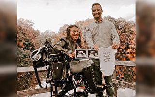 脊椎损伤终生坐轮椅 美国女遇真爱并惊喜怀孕