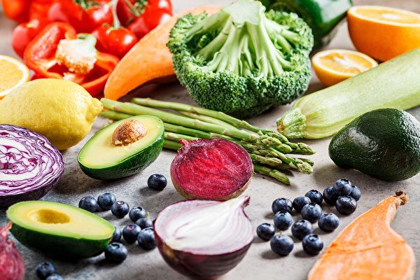 七色食物含有豐富的多酚或維生素A、C、E等抗氧化物質。(Shutterstock)