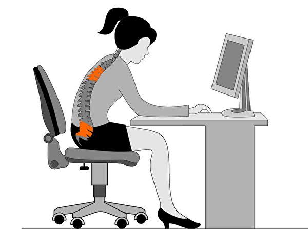久坐不动的生活型态是促成难治型激痛点最广为人知的原因。(Shutterstock)
