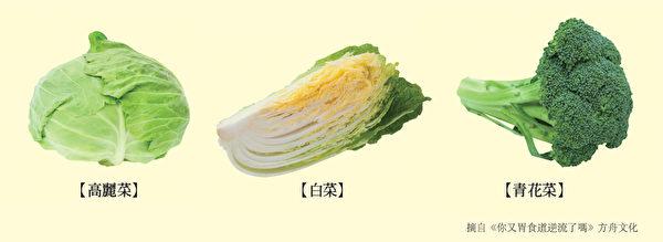 養腸胃食物一:富含護胃部黏膜的維生素U的蔬菜。(方舟文化提供)