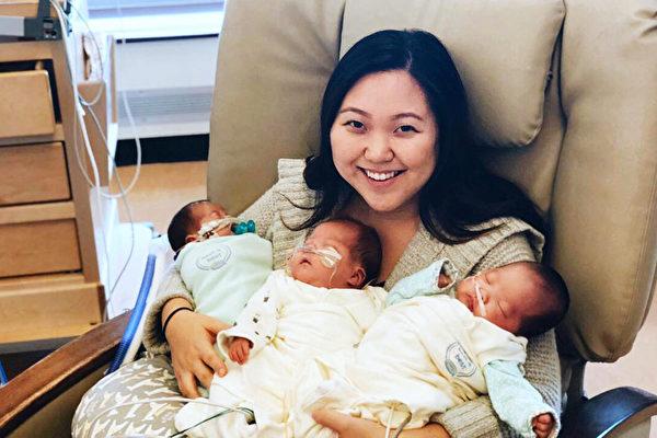 别担心 生下三胞胎的妈妈并不孤单