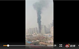 河北石家庄26层高楼火灾 现场听到爆炸声