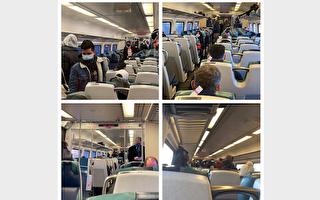 长岛铁路班次减少 首日拥挤 紧急增班次