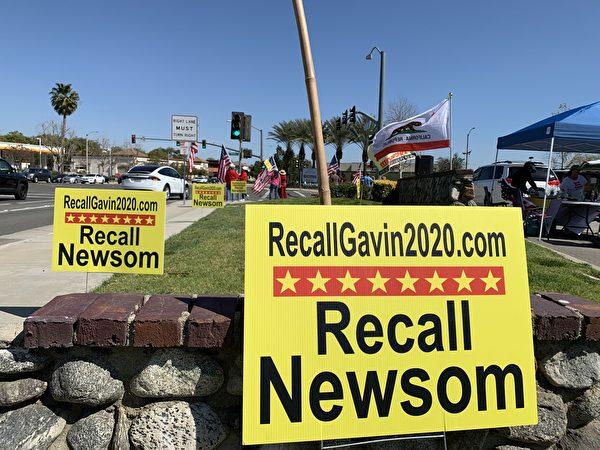 批極左派政策 加州近200萬人簽名罷免州長