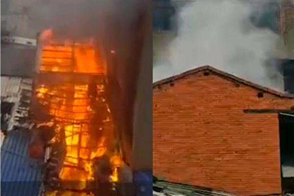 四川绵阳一居民点发生火灾 至少3人受伤