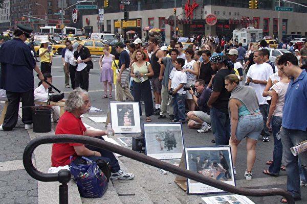 上百法輪功學員新年遭判刑 紐約客齊譴責