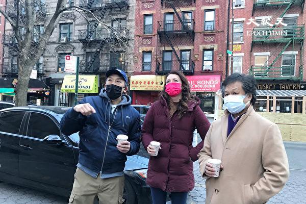 曼哈顿区长候选人博伊兰访华埠 了解民生