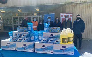 法拉盛华人捐赠史坦顿岛五万口罩