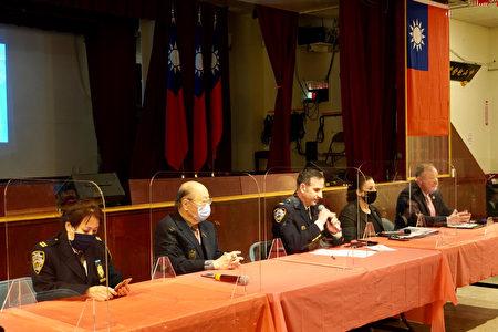 2021年3月16日,市警局第5分局与反仇恨犯罪组至纽约中华公所说明仇恨犯罪的定义与防治方式。