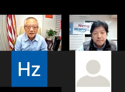 法拉盛市议员参选人王能(左一)与凯森律师楼合办房东房客讲座,为房东房客指点如何解决租赁纠纷。