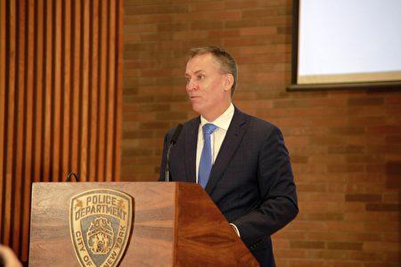 图为纽约市警局局长谢伊(Dermot Shea)。