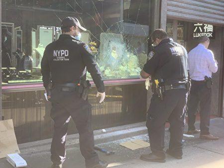 警方在現場調查。