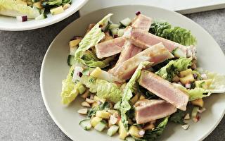 炙烤鲑鱼扁豆沙拉 营养减脂又有饱足感