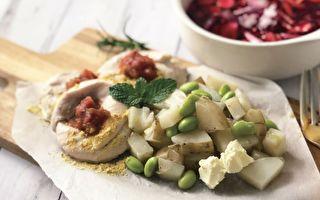 【微波爐料理】優格雞肉捲&甜菜根蔬菜湯