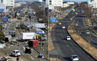 組圖:日本311地震十周年 災區今昔對比