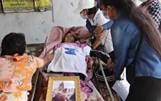 組圖:7歲女孩被殺 緬甸人避免流血罷工抗議