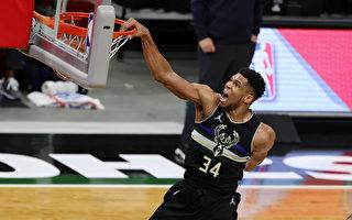 NBA字母哥单节获17分 雄鹿喜迎5连胜