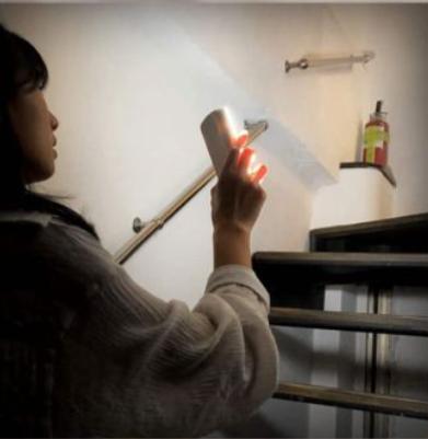 多功能地震感应灯,自动断电后可紧急照明。