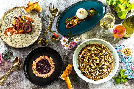 地中海重要的飲食元素:堅果、豆類、葡萄酒、麵包、橄欖油以及各式香料等。