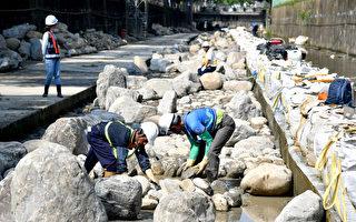 藤寮坑溝砌石工法 提供水域生態環境