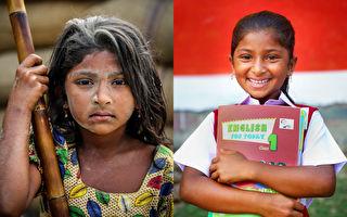 组图:摄影师资助童工上学 前后对比照撼人心