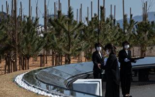 組圖:日本3.11地震10周年 民眾悼念